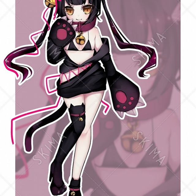 (購入予約品)黒猫モチーフキャラ