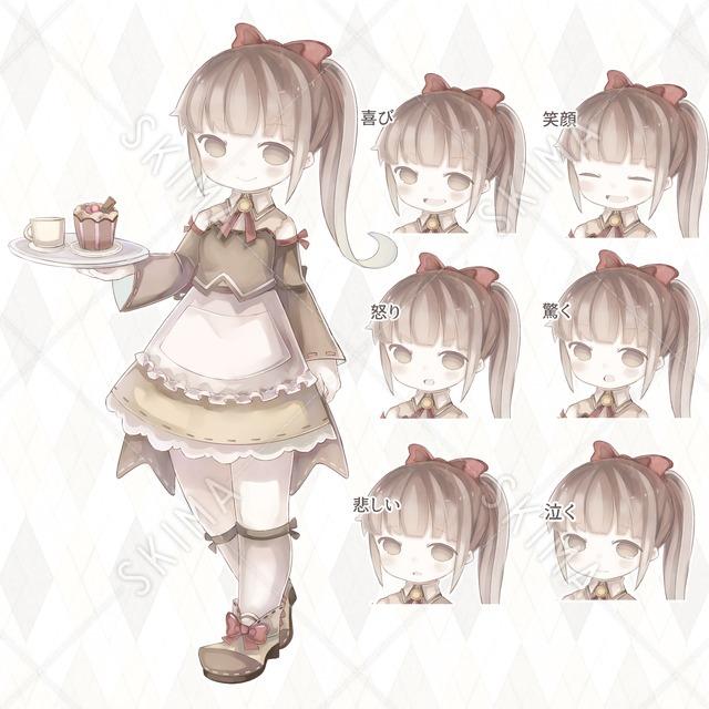 カフェの店員さん 表情6種類
