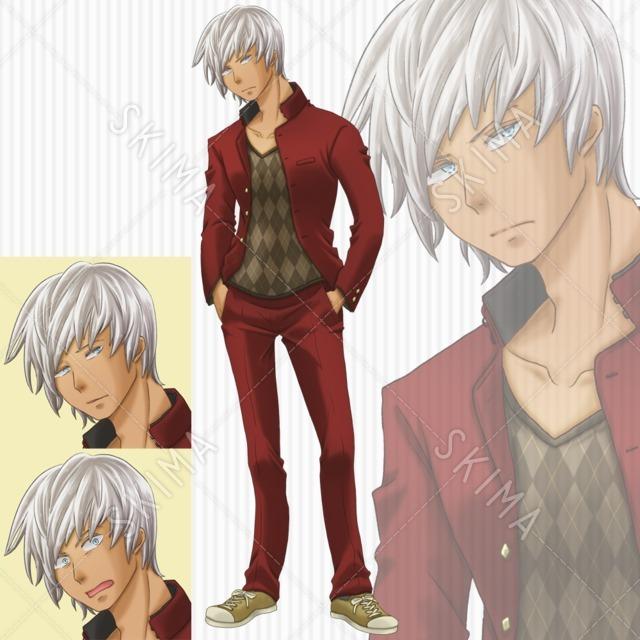 【銀髪】【褐色肌】【学ラン】 男子高校生