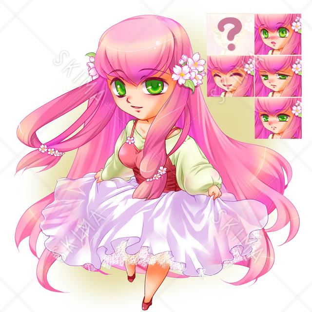 桜色ちびキャラ