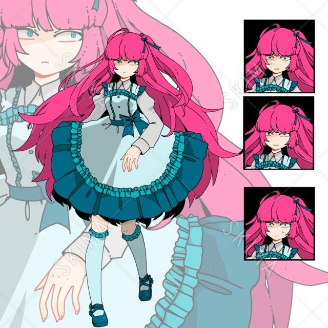 ピンク髪ちゃん(修正+値下げ)