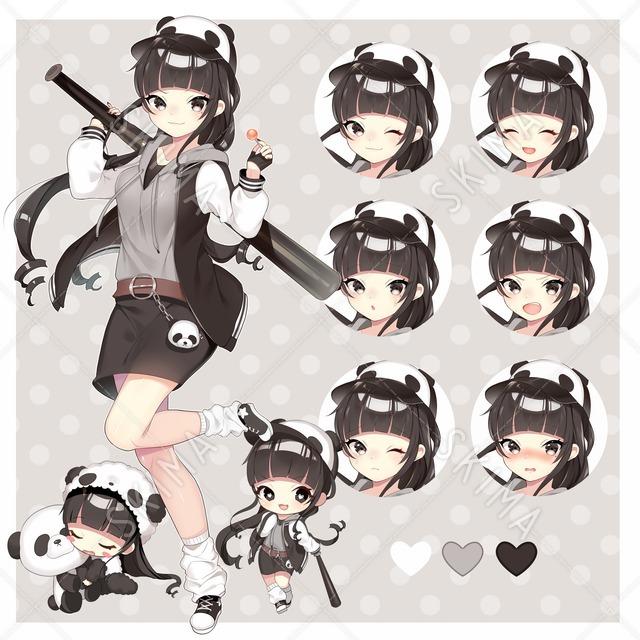 【値下げ】パンダ大好きパンダ帽子娘ちゃん