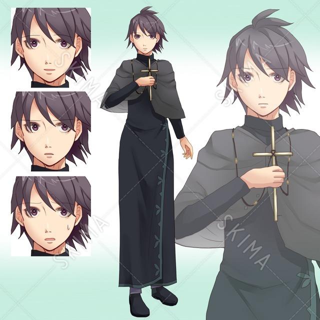 神官服のお兄さん(表情4種)