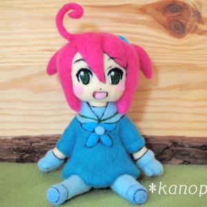 イラストを立体化!オリジナルキャラクターの人形を制作☆羊毛フェルト製