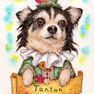 【アナログ】ペット画ミニサイズ【犬、猫、その他動物】