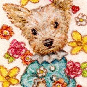 【アナログ】ミニミニペット画《犬、猫、ウサギ、動物》