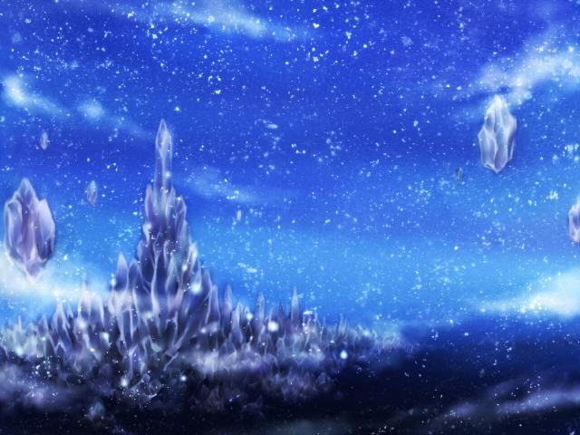 幻想的な氷のお城